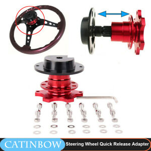 Car Steering Wheel Quick Release Hub Racing Adapter Snap Off Boss Kit Universal