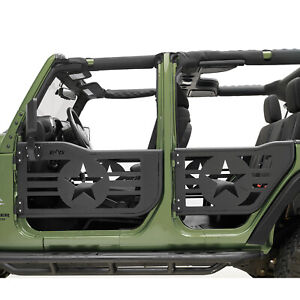 Rock Crawler Military Tube Door With Mirror Fit For 07 18 Jeep Jk Wrangler 4dr