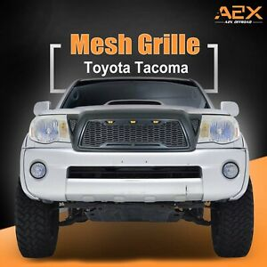 Led Grille Replacement Full Front Grill Fit For 2005 2011 Toyota Tacoma