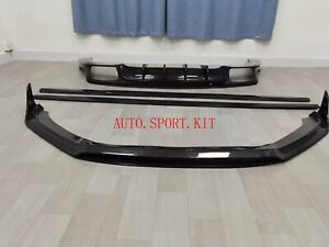Carbon Fiber Front Lip Diffuser Side Skirt Set Body Kit For New Panamera 971