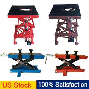 300 1100lb Steel Adjustable Scissor Lift For Motorcycle Atv Dirt Bike Floor Jack