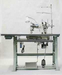 Juki Mf 7523 3 Needle Coverstitch Industrial Sewing Machine With Table And Servo