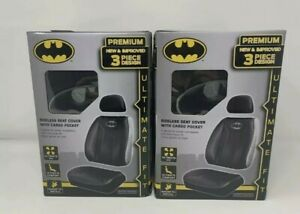 2x Dc Comics Batman Seat Covers With Cargo Pocket For Car Truck Or Suv New