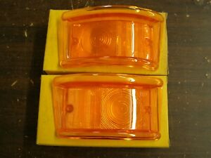 Nos Gb 1961 1967 Ford Econoline Park Light Lenses Van Pickup 1962 1964 1965 1966