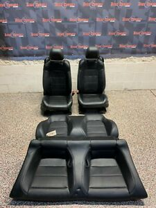 2016 Ford Mustang Gt Convertible Oem Black Leather Front Rear Seats