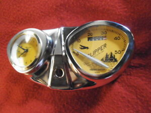 Bicycle Speedometer With Clock Stewart Warner Bike Accessory Dashboard Complete