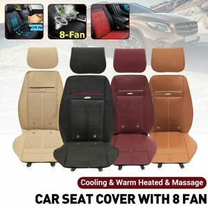 Massage 3 In1 Car Seat Cushion Cooling Warm Heated Chair Cover W 8 Fan 12v Usa
