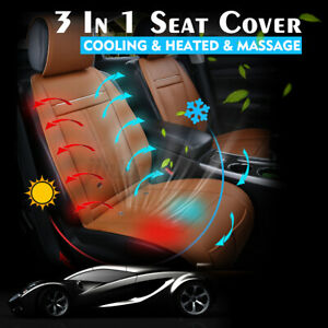 3 In1 Cooling Massage Car Seat Cover Heated Warm Cushion All Weather Universal