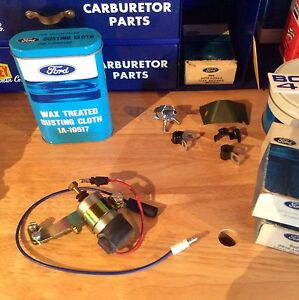 Nos Ford D1az 1971 429scj 1970 Boss 302 Red Wire Solenoid New Bracket Boss 429