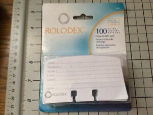 Rolodex 100 Ruled Petite Refill Cards 2 25x4 Inch Model 67553