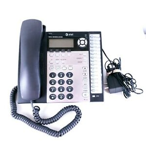 At t 1070 Small Business System 4 lines Corded Phone Used Working Condition