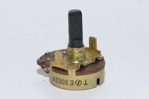 Vintage Radio potentiometer 500 Ohm Linear 6 Mm Achse Variable Resistor Nos