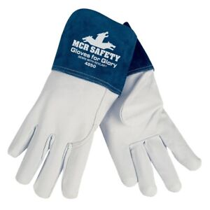 Mcr Safety Gloves For Glory 4850 Large Leather Goatskin Welding Glove