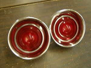Nos Oem Ford 1962 Galaxie 500 Tail Lights Lamps Lenses Restored Buckets Housings