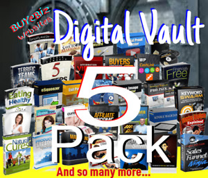 5 Pack Digital Resell Rights ebooks videos blogs Save 97 off Sale 1 99 For All