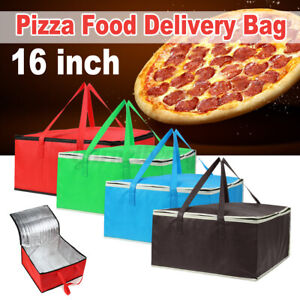 16 Portable Delivery Bag Insulated Thermal Picnic Storage Holder Food Pizza Us