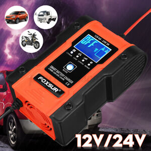 Car Battery Charger 12v 24v Volt Motorcycle Battery Repair Type Agm Charger