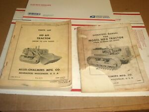 2 Oem Allis Chalmers Hd6g Tractor Parts List Catalog Manual Crawler Loader