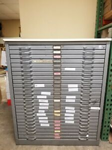 Flat File Drawer With 25 Drawers Made Of Steel Used Condition