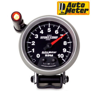 Autometer 3690 Sport comp Ii Pedestal Analog Tachometer Shift Light 0 10 000 Rpm