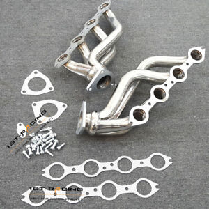 Stainless Exhaust Headers For Chevy Silverado gmc Sierra 1500 2500 3500 6 0l New