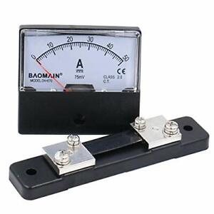 Baomain Dh 670 Dc 0 50a Analog Amp Panel Meter Current Ammeter With 75mv Shunt