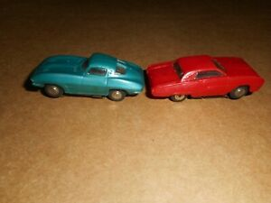 2 Vintage Marx Ho Scale Slot Cars Corvette T bird Do Not Run Htf