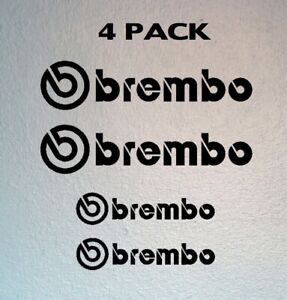 Set Of 4 Brembo Brake Vinyl Decal Caliper Stickers choose Your Color