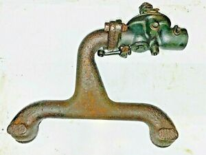 Antique Ford Model T Intake Manifold And Kingston Carburetor For Parts