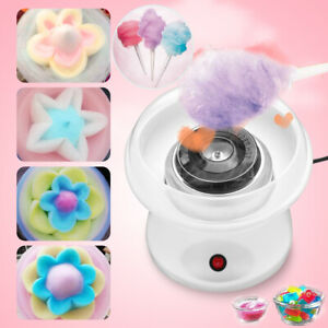 Electric Mini Cotton Candy Machine White Floss Carnival Commercial Maker Party