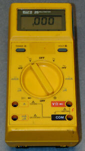 Fluke 25 Multimeter With Carry Case And Leads