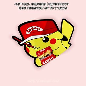 Pokemon Pikachu Pocky Sticks Peeker Cute Anime Vinyl Decal Window Sticker