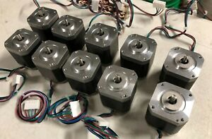 Qty 10 High Torque Nema 17 Stepper Motor 100oz in 2a Bipolar 1 8deg 4 lead