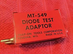 Snap on Tools Mt 549 Diode Test Adapter Mt 540c Battery Alternator Generator