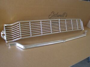 Oem Ford 1965 Galaxie 500 Grille Restored Aluminum Trim Re anodized Nos