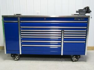 Snap On Royal Blue 84 Epiq Tool Box Power Drawer Stainless Steel Power Top