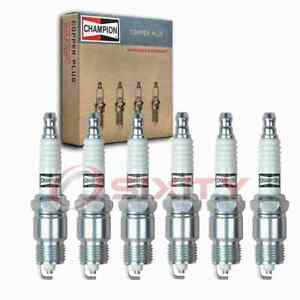 6 Pc Champion Copper Plus Spark Plugs For 1970 1974 Checker Taxicab 4 1l L6 Cg