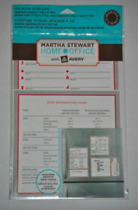 Martha Stewart Avery Important Numbers Kitchen Chart Dry Erase Multi pack Decals