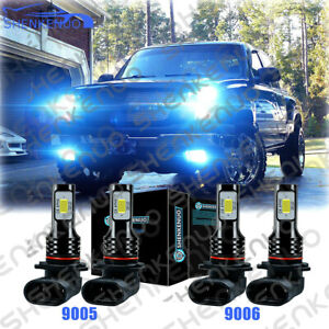 8000k Led Headlights Lights Bulbs For Chevy Silverado 1500 2500hd 3500 1999 2006