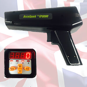 Accuspark Black Professional Timing Light With Digital Advance And Rev Counter