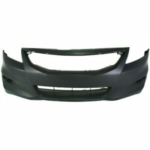Front Bumper Cover For 2011 2012 Honda Accord Coupe W Fog Light Holes