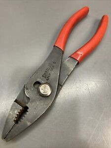Snap on Tools 7 1 2 Combination Slip Joint Pliers Wire Cutter Usa 47cp