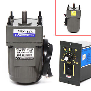 110v Electric Gear Motor variable Speed Reducer Controller 0 90 Rpm Large Torque