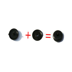 4x Seat Belt Stopper Clip New Universal Buckle Button Holders Stud Pin Black