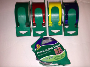 Duck Packaging Tape 1 88 X 54 6 Yards Red Blue Or Green