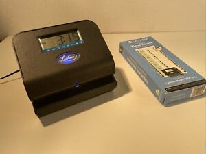 Lathem 800p Thermal Print Time Clock Used With Power Cable and Time Cards