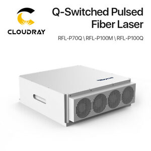 Raycus Q switched Pulsed Laser Source 70 100w Gold Siver Metal Color Marking