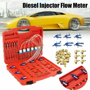 Diesel Injector Flow Test Tool Kit Common Rail Adaptor Fuel Tester Set 6cylinder