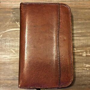 Daytimer Portable Size 6 ring 1 Zipper Binder By Georgetown Leather Design usa