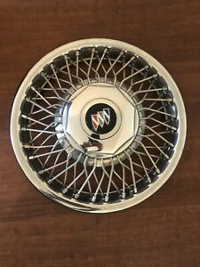 One 1989 1991 Buick Lesabre Lock Wire Spoke 14 Inch Hubcap Wheel Cover 25534925
